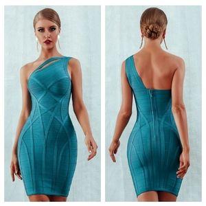 NEW   One Shoulder Bodycon Bandage Dress